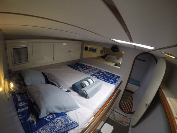 cabin of catamaran